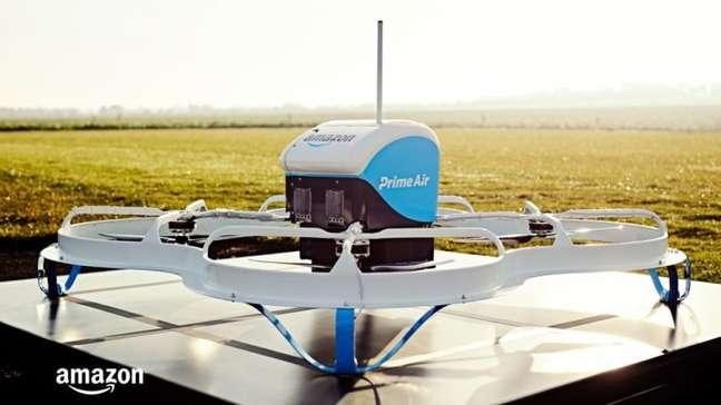 Drone usado em testes do Prime Air (Imagem: Divulgação/Amazon)