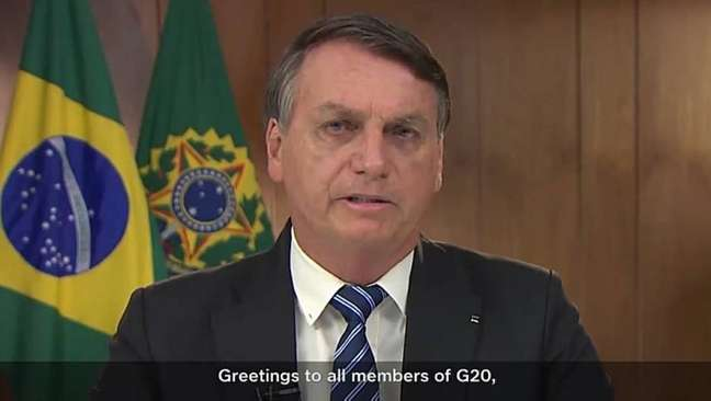 Em mensagem ao G-20, Bolsonaro diz que 'tempo vem provando que estávamos certos sobre pandemia'