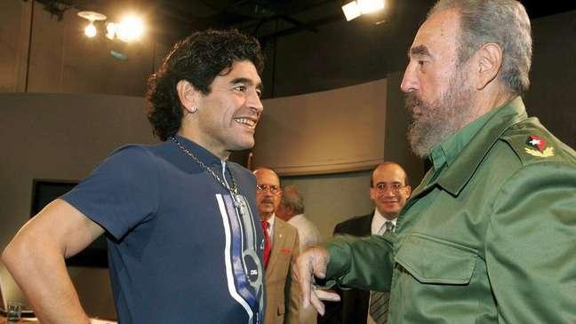Maradona morreu no mesmo dia que o líder cubano Fidel Castro