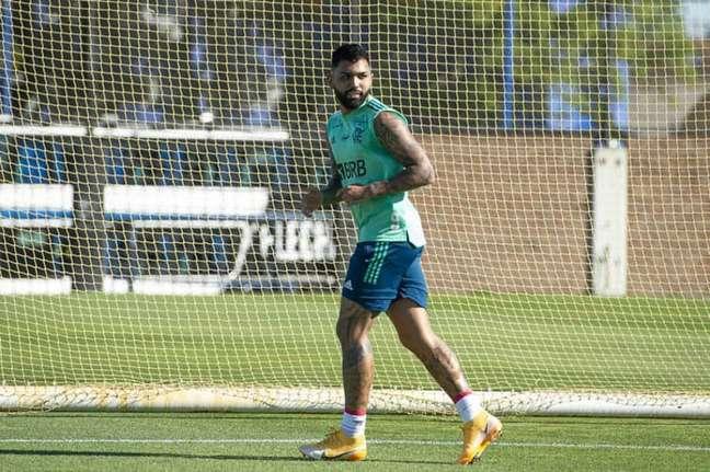 O camisa 9 Gabriel Barbosa é dúvida no Flamengo para decisão contra o Racing (Foto: Alexandre Vidal/Flamengo)