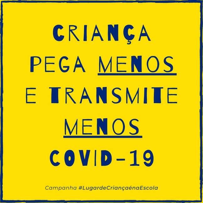 """Objetivo da campanha é """"apoiar e preparar as escolas públicas brasileiras para o retorno seguro às aulas no início de 2021"""""""