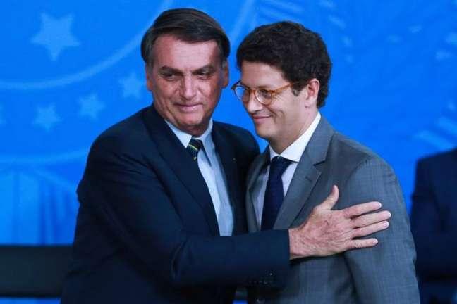 Ricardo Salles e o presidente Jair Bolsonaro
