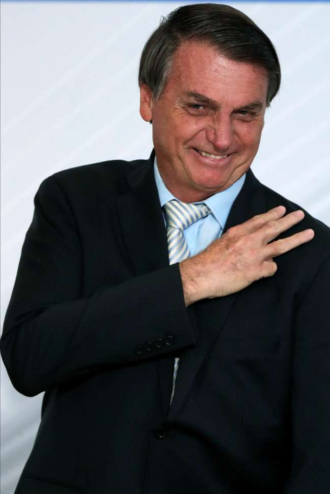 Presidente Jair Bolsonaro durante cerimônia no Palácio do Planalto 09/12/2020 REUTERS/Ueslei Marcelino