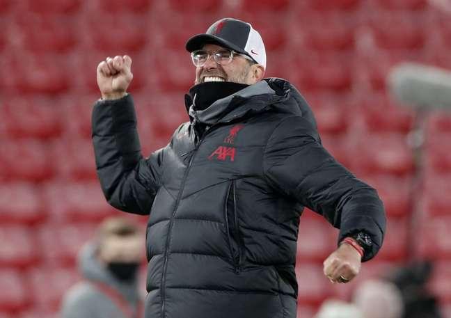 Klopp em partida do Liverpool e Wolverhampton Wanderers  6/12/2020  REUTERS/Clive Brunskill