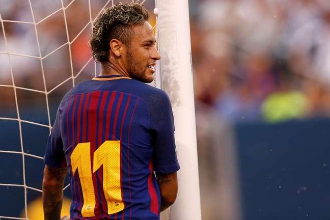 Neymar em partida em Nova Jersey, nos EUA, quando atuava pelo Barcelona  22/07/2017 REUTERS/Mike Segar
