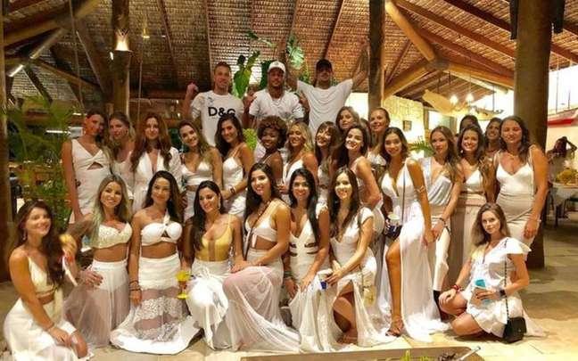 Em 2019, Neymar comemorou o Ano Novo em grande estilo, mas ainda não existia o coronavírus.