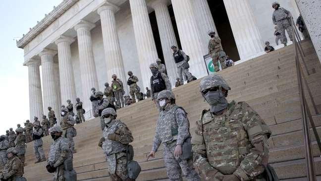 Em torno de 5 mil agentes da Guarda Nacional foram mobilizados em Washington durante os protestos do Black Lives Matter