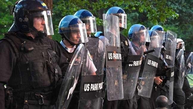 A Polícia de Parques foi mobilizada para responder aos protestos do BLM