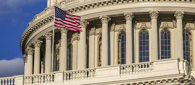 O Capitólio é a sede do Congresso dos EUA e um dos símbolos da democracia americana