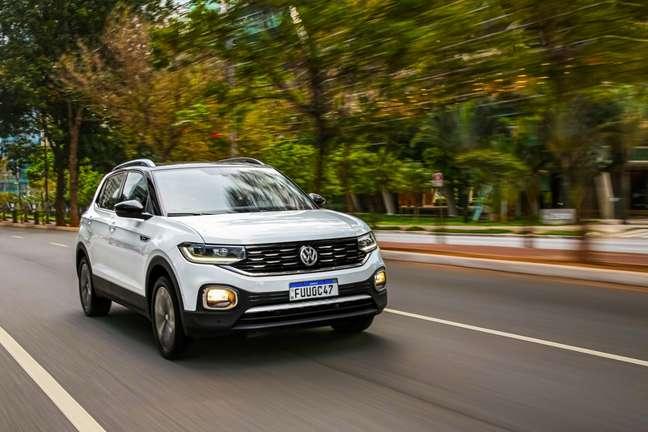 Volkswagen aposta em versões do SUV T-Cross no serviço Sign & Drive; a marca também oferece opções como Virtus, Jetta e Tiguan.
