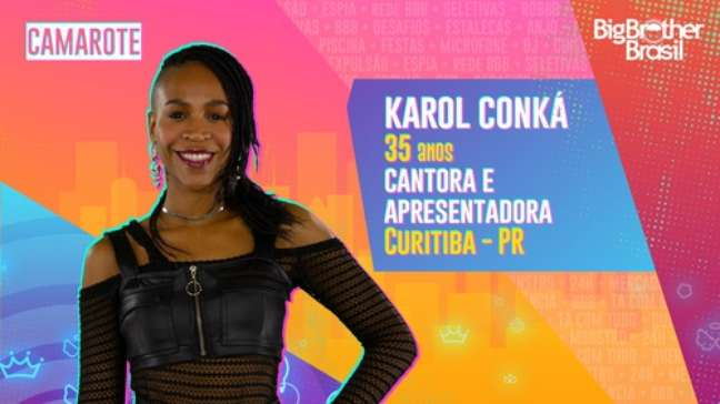 Karol Conka, cantora e apresentadora - 35 anos