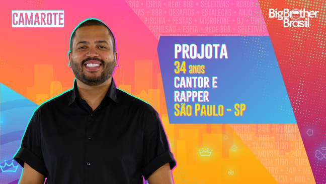 Projota, cantor e rapper, 34 anos