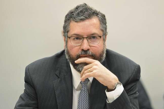 O ministro das Relações Exteriores, Ernesto Araújo.
