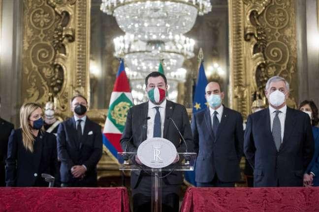 Salvini com lideranças de direita após reunião com Mattarella