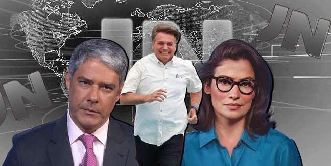 Corra, Bolsonaro, corra: presidente foge das matérias contestadoras do 'Jornal Nacional'