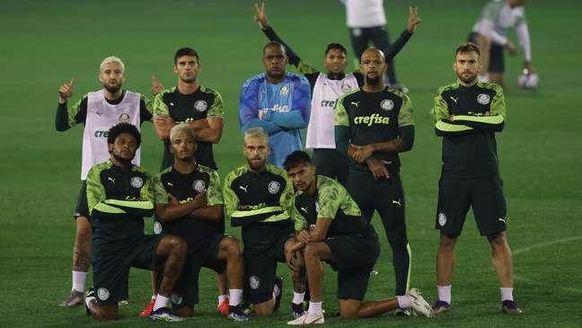 Os jogadores do Palmeiras se preparam para estrear no Mundial
