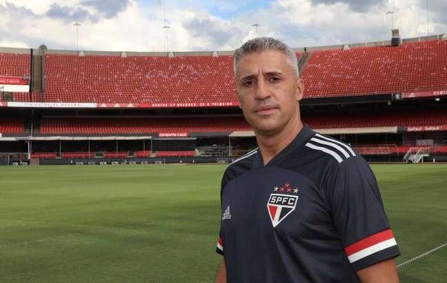 Hernán Crespo, do São Paulo, é um dos cinco técnicos estrangeiros na elite do futebol brasileiro   Foto: Reprodução