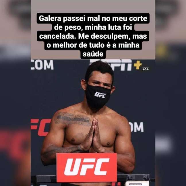 Brasileiro bate o recorde de peso excedido e luta é cancelada no UFC.