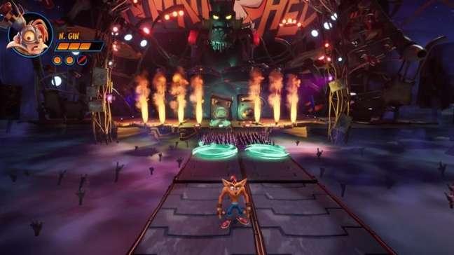 Referência à Guitar Hero em Crash 4