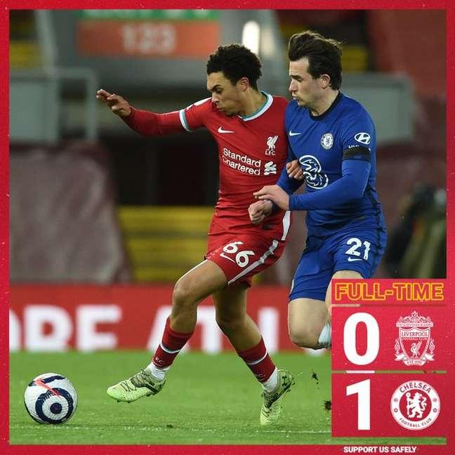 O Liverpool perdeu o clássico para o Chelsea: quinta derrota seguida em casa