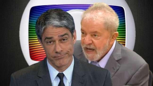 Por enquanto, Bonner ignora as provocações dirigidas a ele pelo ex-presidente Lula