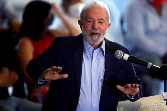 Lula faz pronunciamento no Sindicato dos Metalúrgicos do ABC