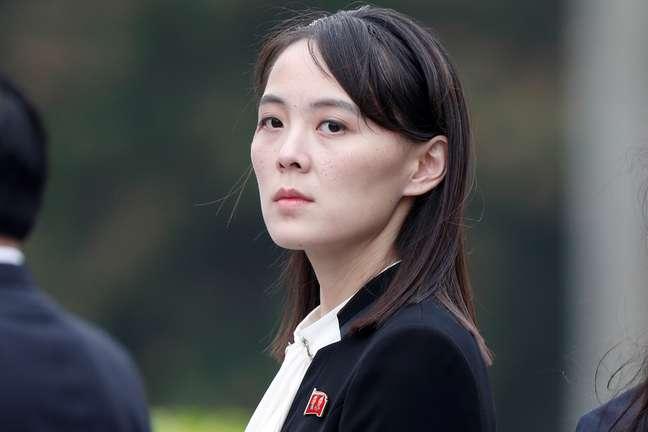 Kim Yo Jong, irmã do líder da Coreia do Norte 02/03/2019 REUTERS/Jorge Silva