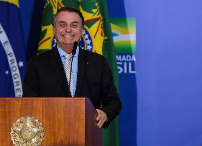 Presidente Jair Bolsonaro durante cerimônia em Brasília