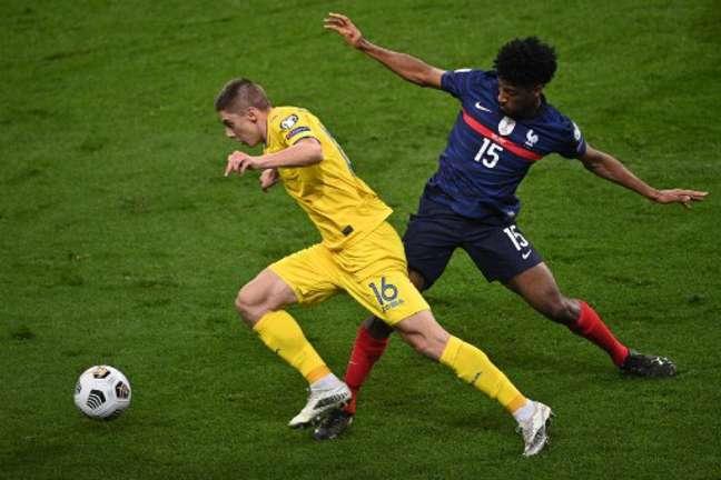 França e Ucrânia ficaram no empate (Foto: ANNE-CHRISTINE POUJOULAT / AFP)