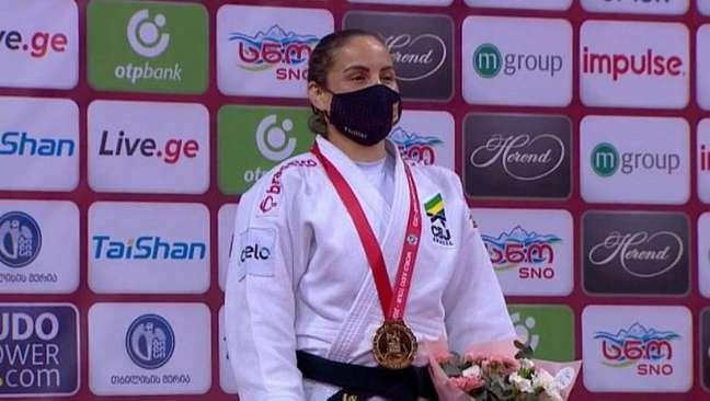 Judoca Maria Portela conquista medalha de ouro no Grand Slam de Tbilisi.
