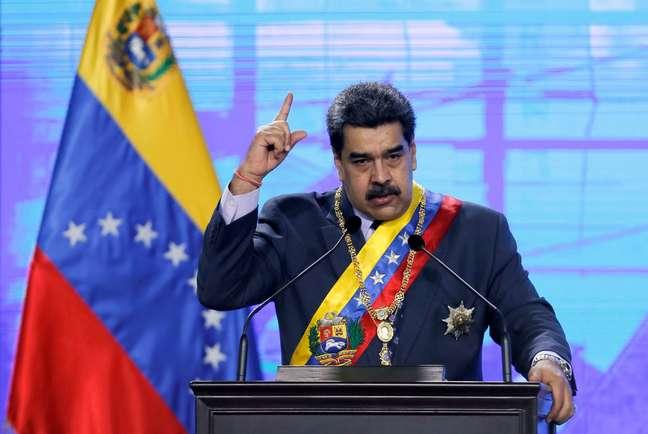 Presidente da Venezuela, Nicolás Maduro, durante cerimônia em Caracas 22/01/2021 REUTERS/Manaure Quintero
