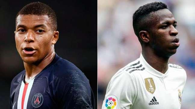 Mbappé e Vinícius podem ser envolvidos em uma troca (Foto: AFP)