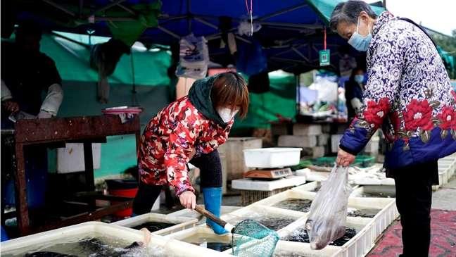 A princípio, a comunidade científica considerou que o início da pandemia ocorreu no mercado de Huanan