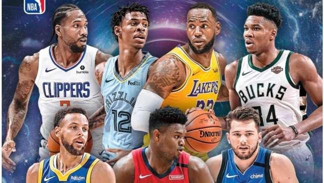 Los Angeles Clippers, de Kawhi Leonard (alto, à esquerda), faz bonito na NBA