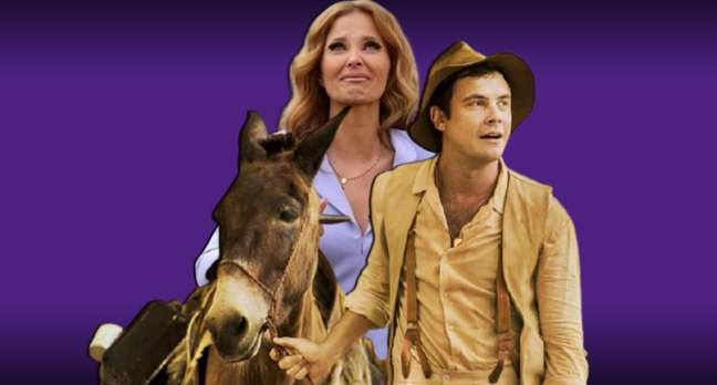 Cristina Ferreira chora de emoção na estreia do novo programa: nos bastidores, o 'choro' foi pela derrota para 'Êta Mundo Bom!', com Candinho (Sergio Guizé) e seu burro Policarpo