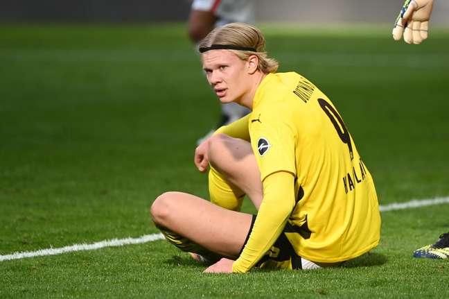 Haaland lamenta derrota do Borussia