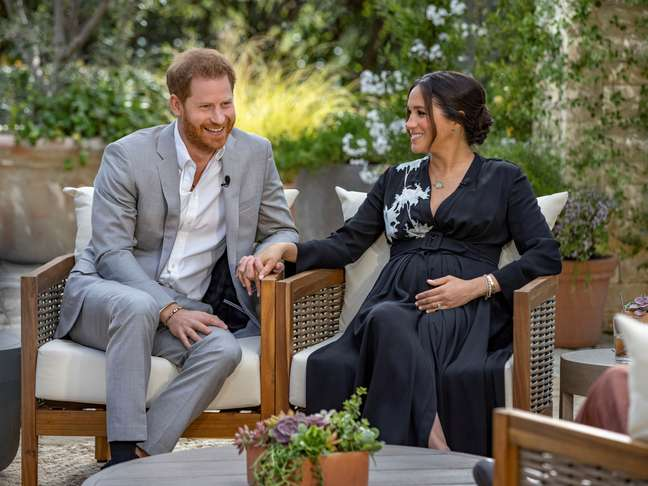 Meghan e Harry concedem entrevista a Oprah Winfrey  8/3/2021  Divulgação