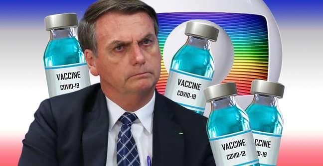 Bolsonaro cortou cerca de 60% da verba publicitária do governo federal à Globo: economia de um ano compra vacinas para 1% da população