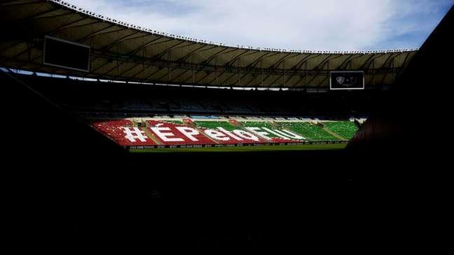 Torcida do Fluminense fez campanha pelo aumento de sócios na pandemia (Foto: Mailson Santana/Fluminense FC)