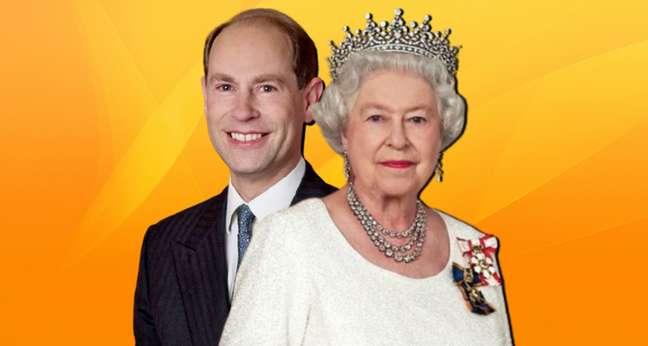 Edward e a rainha Elizabeth: o príncipe caçula sempre teve o apoio da mãe contra os boatos na imprensa