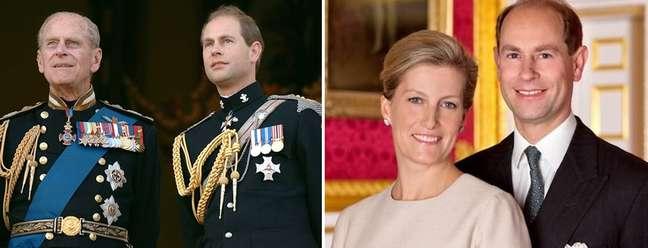 Edward será o novo Duque de Edimburgo, no lugar de seu pai, o recém-falecido príncipe Philip; ao lado, ele com a mulher, condessa Sophie