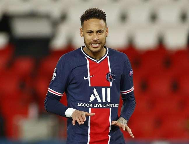 Neymar durante partida d Paris St Germain contra o Bayern de Munique pela Liga dos Campeões 13/04/2021 REUTERS/Christian Hartmann