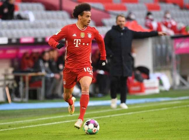 Leroy Sané em ação pelo Bayern de Munique (Foto: ANDREAS GEBERT / POOL / AFP)