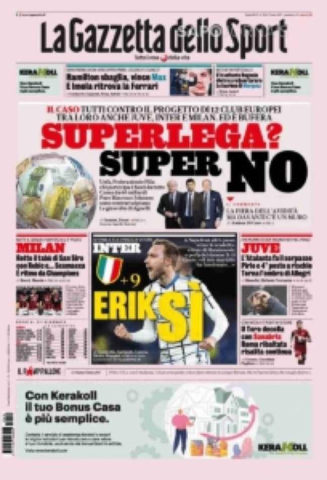 La Gazzetta afirma ser contra a Super League (Reprodução)