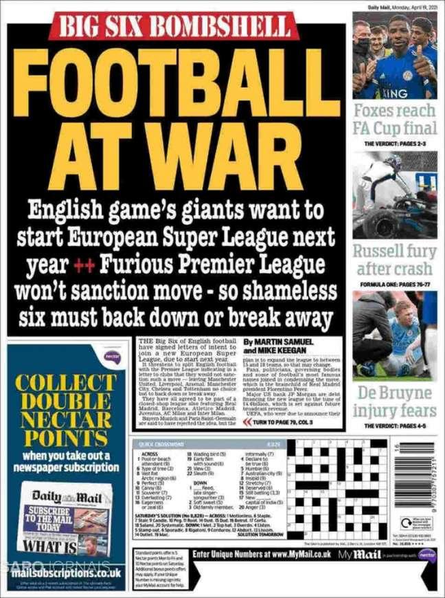 Imprensa inglesa se preocupa com adesão do Big Six na Super League (Reprodução)