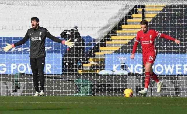 Alisson e Henderson se posicionaram contra a Superliga (Foto: MICHAEL REGAN / POOL / AFP)