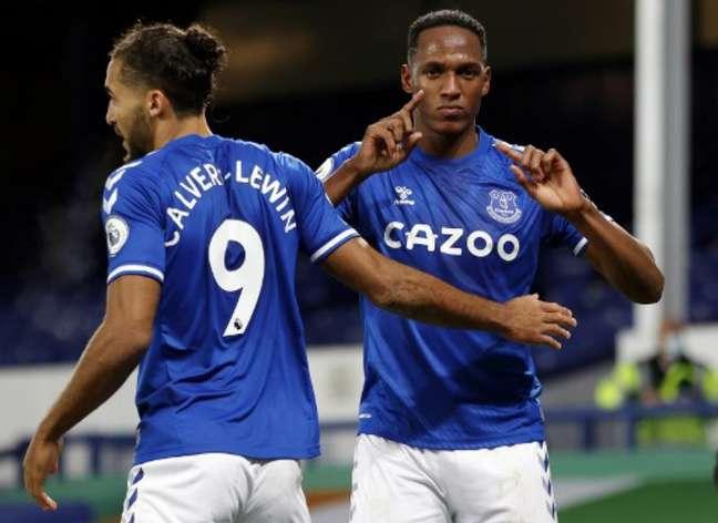No primeiro turno, Everton venceu por 2 a 1 (CLIVE BRUNSKILL / POOL / AFP)