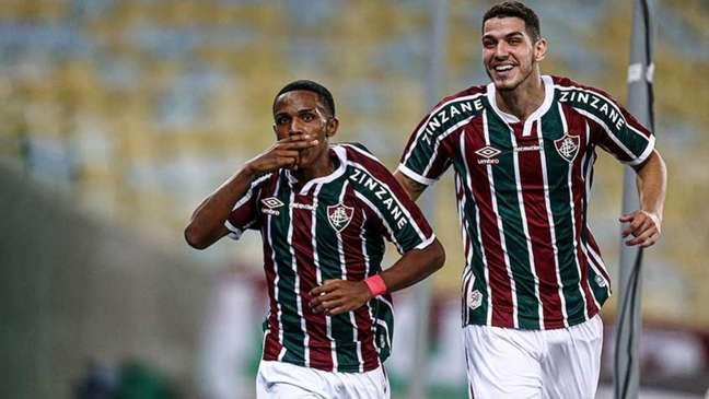 Kayky é titular no time de Roger Machado (Foto: Lucas Merçon/Fluminense FC)