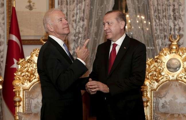 Erdogan e Biden durante reunião em Istambul  23/1/2016   REUTERS/Sedat Suna