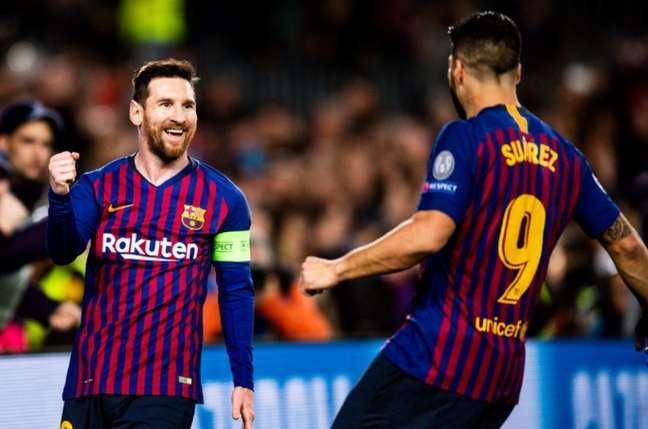 Messi e Suárez atuaram juntos no Barcelona (Foto: Reprodução)